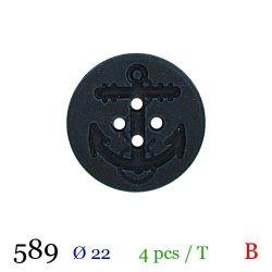 Tube 4 boutons marine Ø 22mm