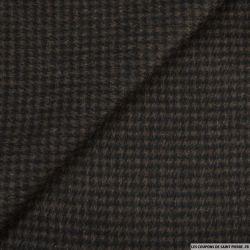laine pied de poule marron clair