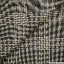 laine pied de coq à carreaux gris