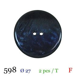 Tube 2 boutons marine Ø 27mm