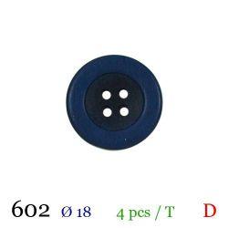 Tube 4 boutons marine Ø 18mm