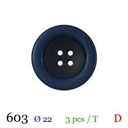 Tube 3 boutons marine Ø 22mm