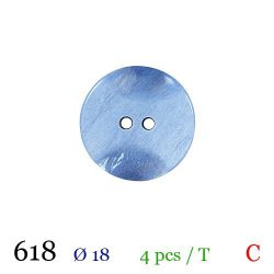 Tube 4 boutons bleu Ø 18mm