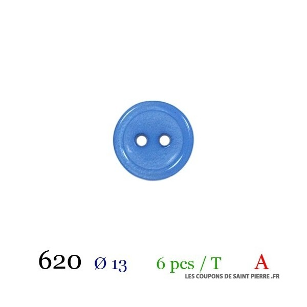 Tube 6 boutons Ø 13mm