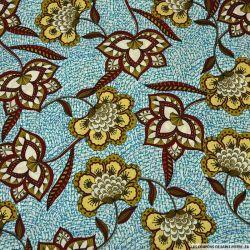 Microfibre imprimée paisible lotus turquoise
