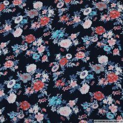 Double gaze jardin rose sur fond bleu