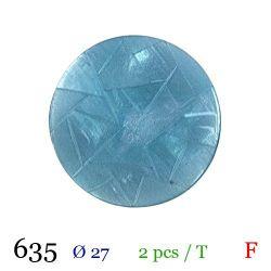 Tube 2 boutons bleu Ø 27mm