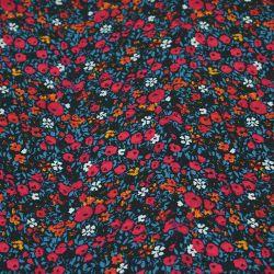 Toile de coton pâturage fleuri rose