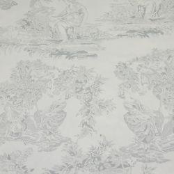 Tissus Piqué de coton toile de jouy gris