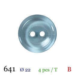 Tube 4 boutons bleu  Ø 22mm