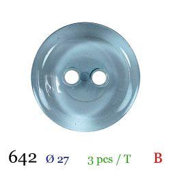 Tube 3 boutons bleu Ø 27mm