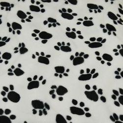 Tissus Fourrure synthétique patte de chien