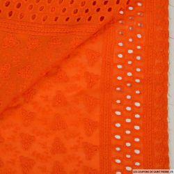Broderie anglaise cerf volant orange
