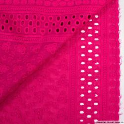 Broderie anglaise cerf volant magenta