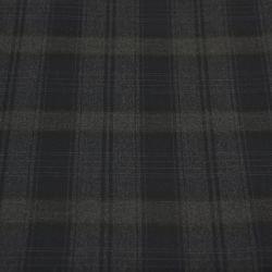 Tissu tailleur imprimé Tartan noir et violet