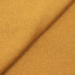Molleton coton lurex fond jaune