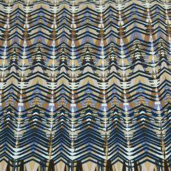 Jersey polyester imprimé ethnique marron