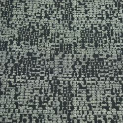 Jersey polyester imprimé cercle 70's gris