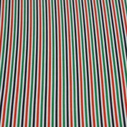 Coton chemise rayures rouge et verte