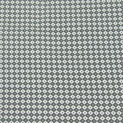 Microfibre imprimée petits carrés noir fond blanc