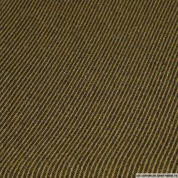 Lainage diagonale sable et noir