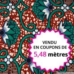 Wax africain lié par le fruit, vendu en coupon de 5,48 mètres