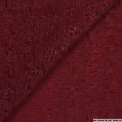 Maille polyester flammée rouge bordeaux