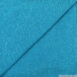 Maille polyester flammée bleu ciel