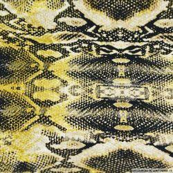 Coton imprimé python or et noir