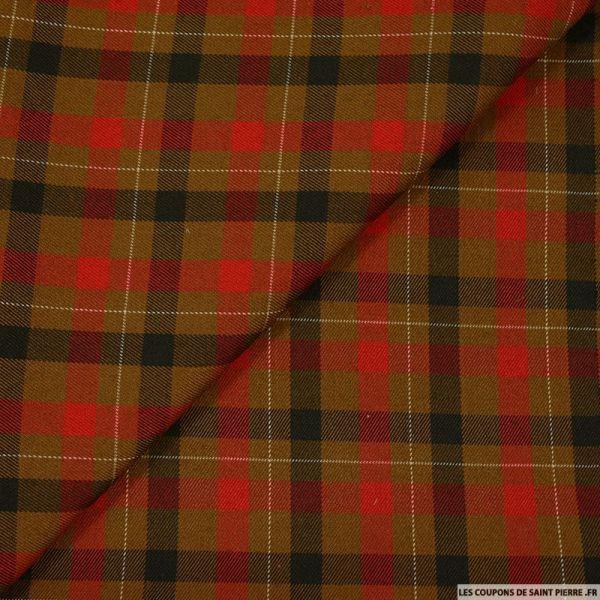 Clan écossais gros carreaux marron et rouge