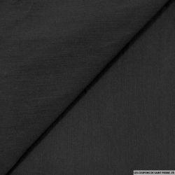 Coton élasthanne uni noir