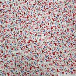 Coton imprimé microcosme rose