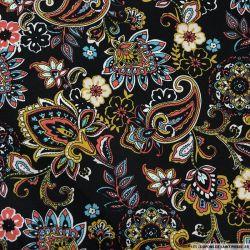 Coton imprimé style bandana noir