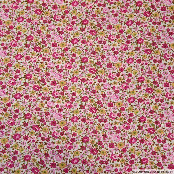 Coton imprimé comme on se retrouve rose fuchsia