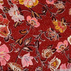 Coton imprimé ciel étoilé rouge