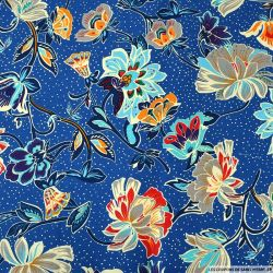 Coton imprimé ciel étoilé bleu