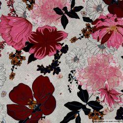 Coton imprimé repos bien mérité rose