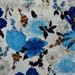 Coton imprimé repos bien mérité bleu