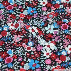 Coton imprimé songe floral pop rose