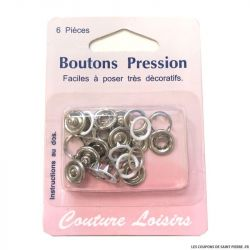 Boutons pressions 11 mm - blanc