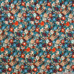 Coton imprimé minis fleurs rouge
