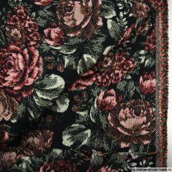 Jacquard fleurs vintage poly-coton