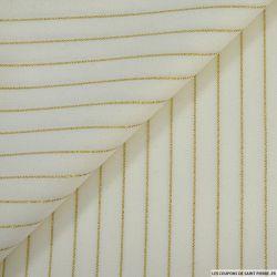 Tissu Tailleur ivoire irisé doré