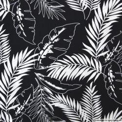 Coton imprimé jungle fond noir
