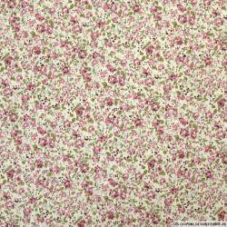 Coton imprimé fleurs du bonheurs rose