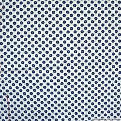 Coton imprimé motif cravate fond blanc