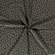 Lin viscose imprimé feuille blanche fond vert kaki