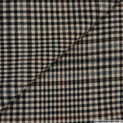 Jacquard à carreaux poly-coton