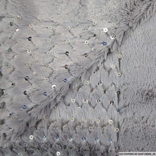 Doudou sequin gris