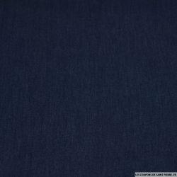 Chambray de coton bleu turquin